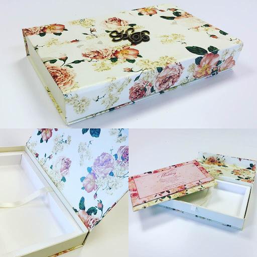 Floral Box Invitations