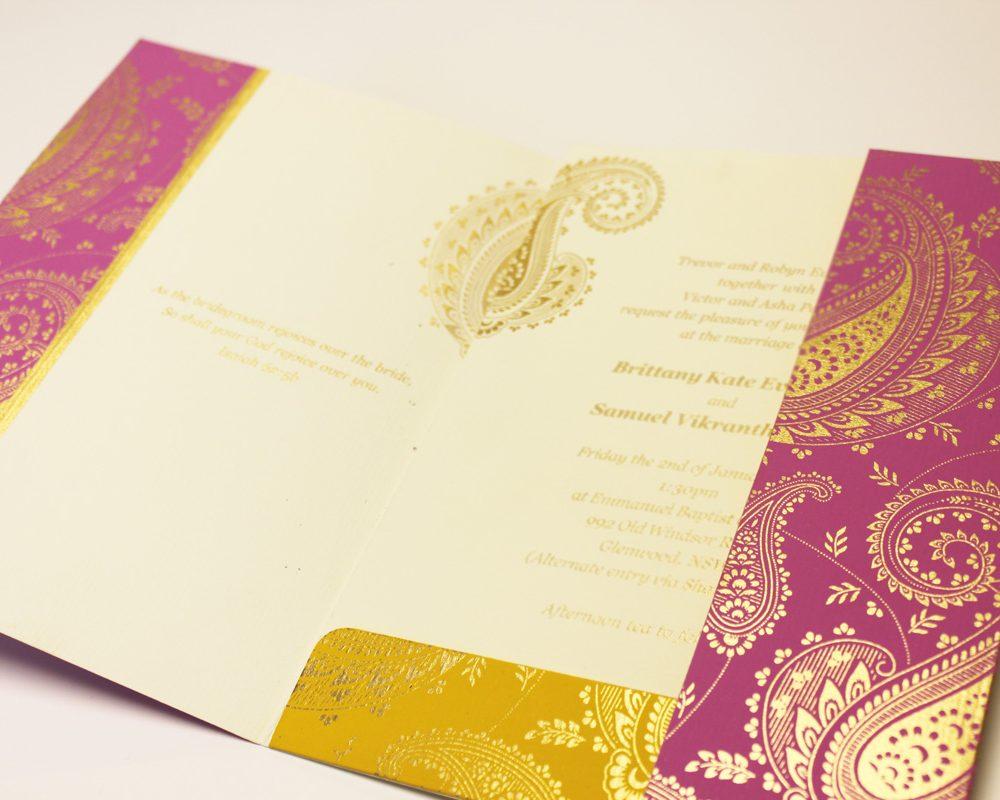 Paisley Pink Wedding Cards