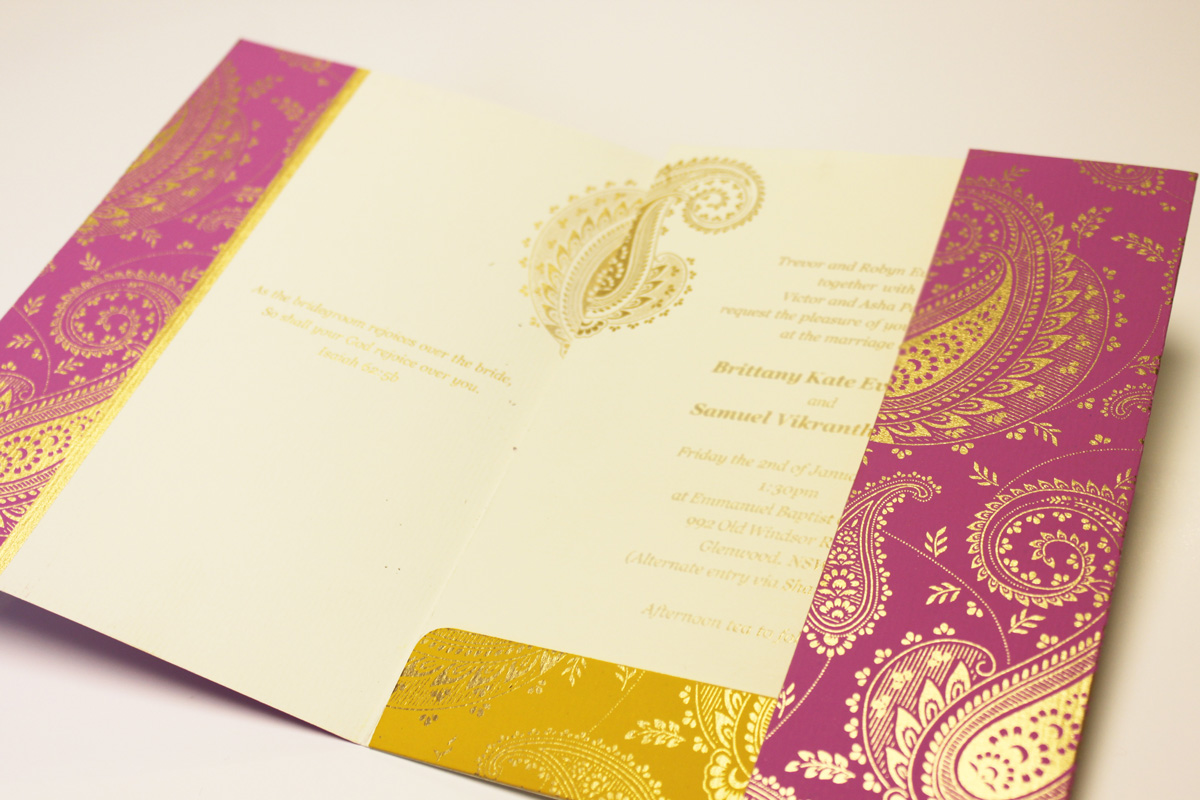 Paisley Pink Wedding Cards
